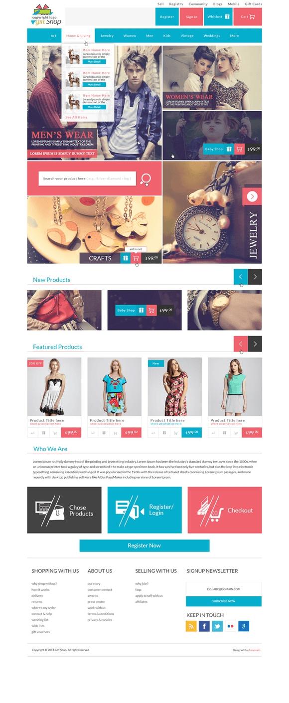 Baixar template Gift Shop em psd - Agente Webmaster